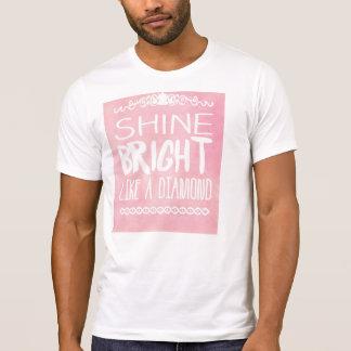 Brillo brillante como un diamante camiseta