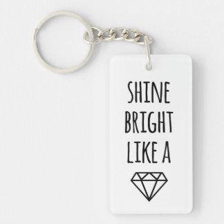 Brillo brillante como un llavero del diamante