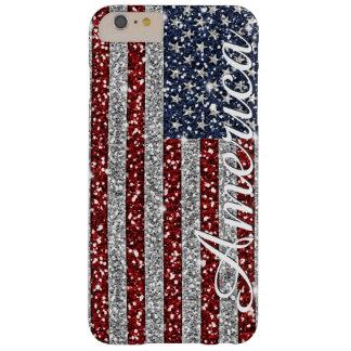 Brillo brillante de la bandera de moda fresca de funda para iPhone 6 plus barely there