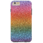 Brillo brillante del arco iris funda de iPhone 6 plus tough