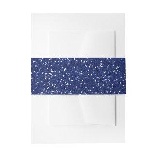 Brillo brillante del azul real y de la plata cintas para invitaciones