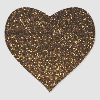 Brillo brillante del oro negro pegatina en forma de corazón