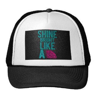 Brillo brillante gorras de camionero