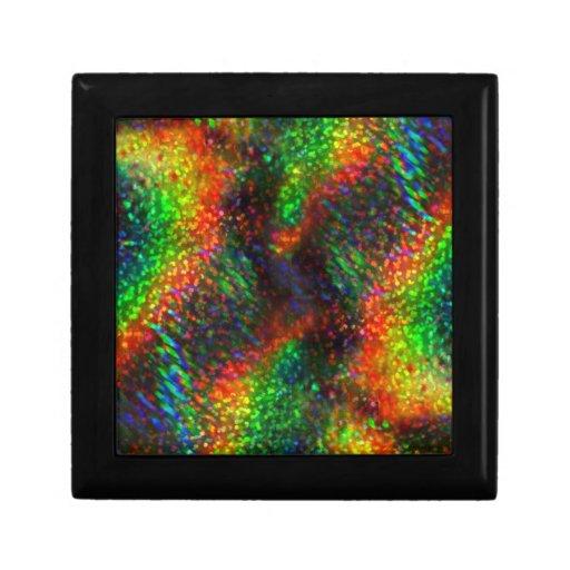 Brillo brillante olográfico brillante de las luces caja de joyas