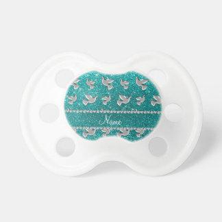 Brillo brillante personalizado de la aguamarina de chupetes de bebé