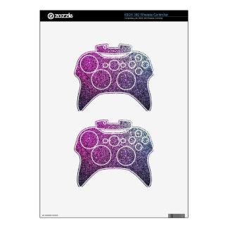 Brillo brillante púrpura rosado mando xbox 360 skins