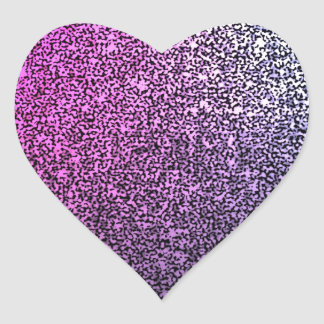 Brillo brillante púrpura rosado pegatina en forma de corazón