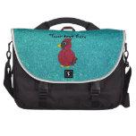 Brillo cardinal de la turquesa del brillo rojo bolsas de portatil