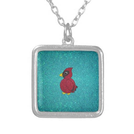 Brillo cardinal de la turquesa del brillo rojo colgante cuadrado
