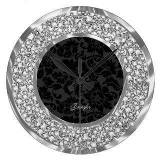 Brillo chispeante de los diamantes de los damascos relojes