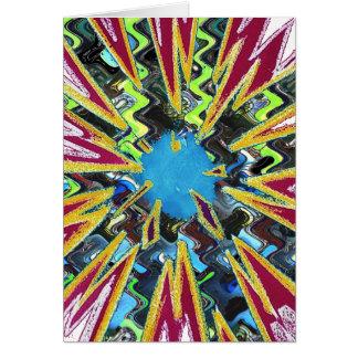 Brillo chispeante moderno de la estrella del arte tarjeta de felicitación