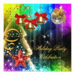 Brillo colorido de la fiesta de Navidad del día de Comunicado Personalizado