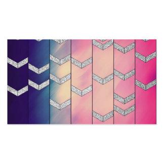 Brillo colorido de moda del zigzag de la flecha de tarjetas de visita