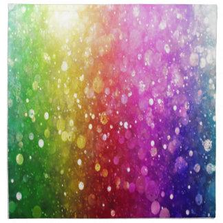 brillo, colorido, orbes, encanto, femenino, servilleta