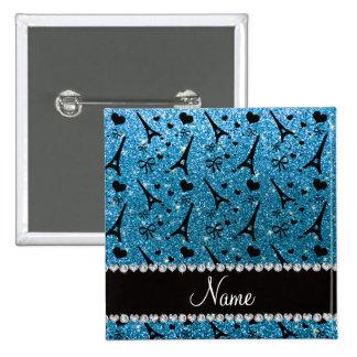 Brillo conocido de encargo del azul de cielo de la chapa cuadrada 5 cm
