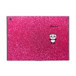Brillo conocido de encargo del rosa de la panda iPad mini funda