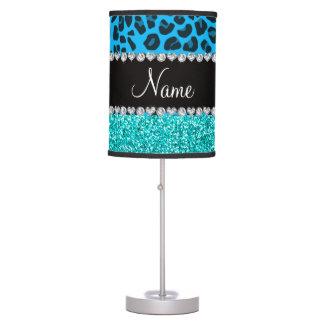 Brillo conocido de la turquesa del leopardo del lámpara de escritorio