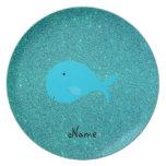 Brillo conocido personalizado de la ballena de la  plato