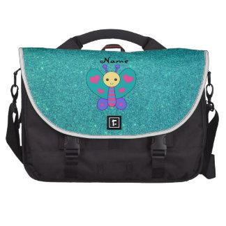 Brillo conocido personalizado de la turquesa de la bolsas para portátil