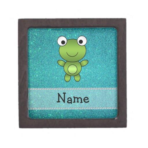 Brillo conocido personalizado de la turquesa de la caja de regalo de calidad