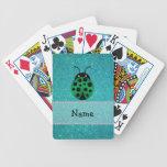 Brillo conocido personalizado de la turquesa de la cartas de juego