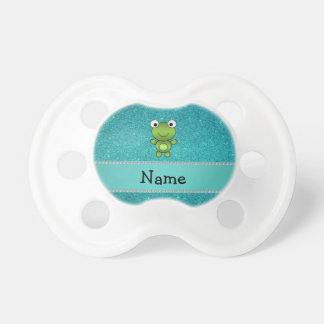 Brillo conocido personalizado de la turquesa de la chupetes de bebe