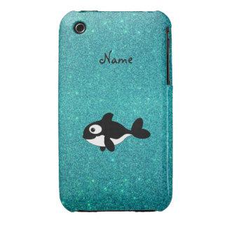 Brillo conocido personalizado de la turquesa de la iPhone 3 Case-Mate fundas