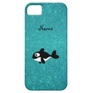 Brillo conocido personalizado de la turquesa de la iPhone 5 Case-Mate cobertura