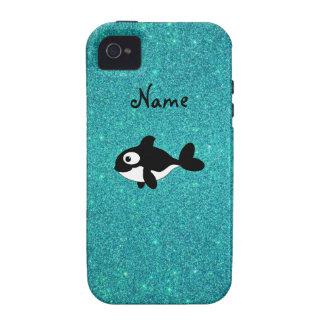 Brillo conocido personalizado de la turquesa de la Case-Mate iPhone 4 carcasas