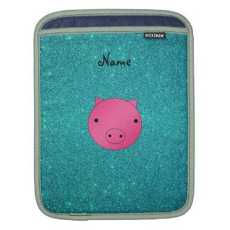 Brillo conocido personalizado de la turquesa de la fundas para iPads