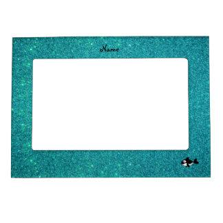 Brillo conocido personalizado de la turquesa de la marcos magnéticos de fotos