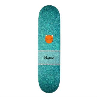 Brillo conocido personalizado de la turquesa de la skate board