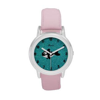 Brillo conocido personalizado de la turquesa de la reloj de mano