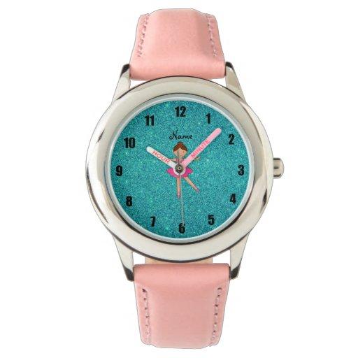 Brillo conocido personalizado de la turquesa de la relojes de pulsera