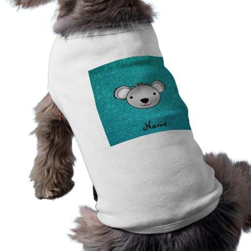 Brillo conocido personalizado de la turquesa de la camisa de perro