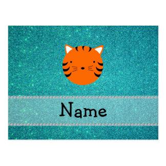 Brillo conocido personalizado de la turquesa de la tarjetas postales