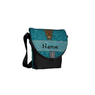 Brillo conocido personalizado de la turquesa del bolsas de mensajeria