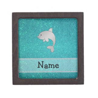 Brillo conocido personalizado de la turquesa del d cajas de joyas de calidad