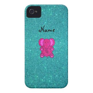 Brillo conocido personalizado de la turquesa del e Case-Mate iPhone 4 protectores