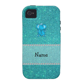 Brillo conocido personalizado de la turquesa del e iPhone 4 funda