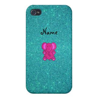 Brillo conocido personalizado de la turquesa del e iPhone 4 cárcasa