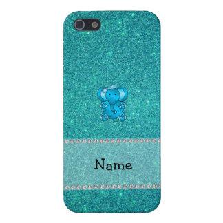 Brillo conocido personalizado de la turquesa del e iPhone 5 protectores