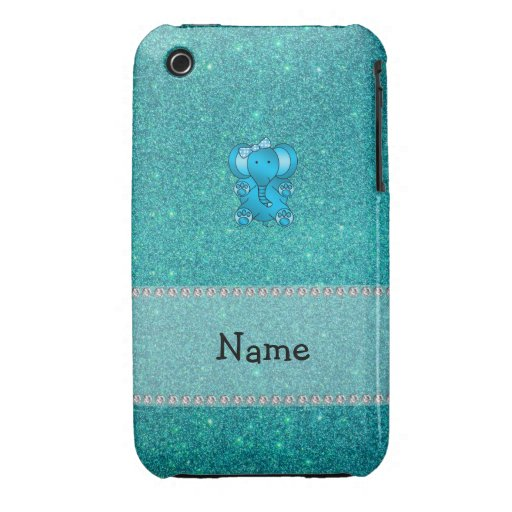 Brillo conocido personalizado de la turquesa del Case-Mate iPhone 3 carcasas
