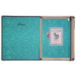 Brillo conocido personalizado de la turquesa del iPad carcasas