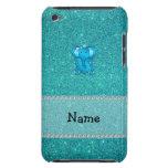 Brillo conocido personalizado de la turquesa del barely there iPod cárcasas