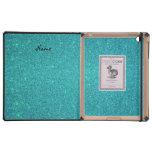 Brillo conocido personalizado de la turquesa del iPad protector