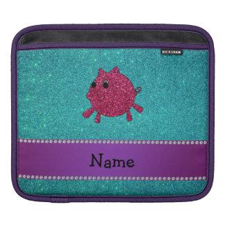 Brillo conocido personalizado de la turquesa del funda para iPads