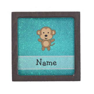 Brillo conocido personalizado de la turquesa del m cajas de regalo de calidad