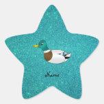 Brillo conocido personalizado de la turquesa del p colcomanias forma de estrellaes