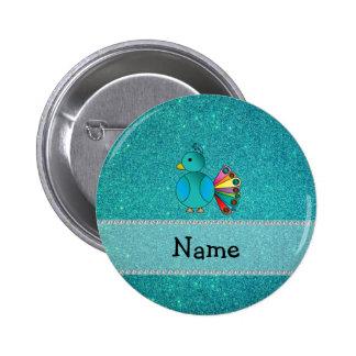 Brillo conocido personalizado de la turquesa del p pin